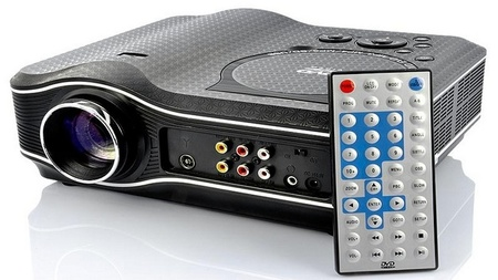 CVXN-E207,  proyector LED  con DVD y reproductor multimedia integrado