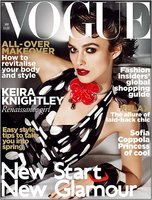 Espectacular portada de Keira Knightley para Vogue UK Enero 2011