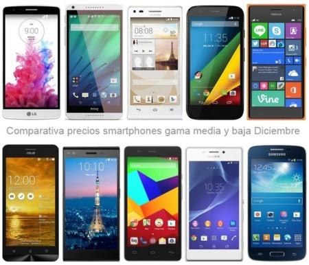 ¿Buscas smartphone de gama media o baja? Estos son los precios que encontrarás en navidad