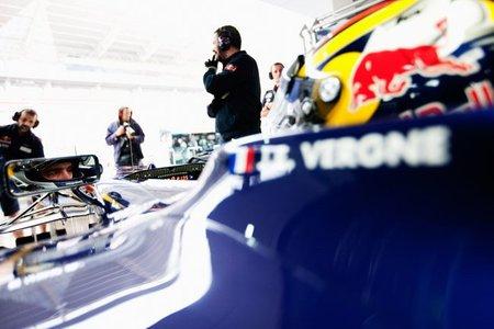 Jean-Eric Vergne, piloto Red Bull en los entrenamientos para jóvenes pilotos de Abu Dhabi