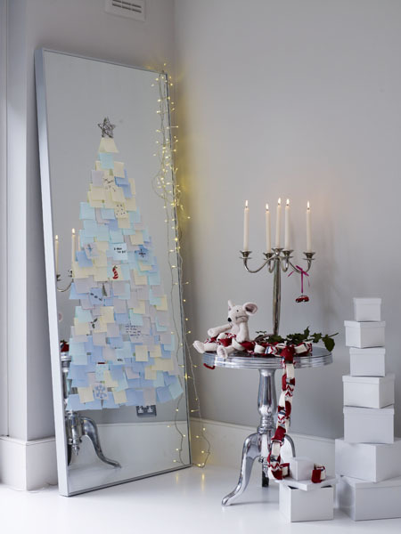 arbol de navidad post its foto de polly wreford