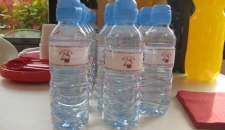 botellas de agua de kitty