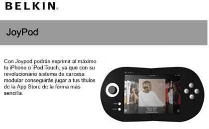JoyPod de Belkin, aumentando la jugabilidad del iPhone