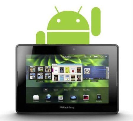 BlackBerry PlayBook soportará las aplicaciones de Android