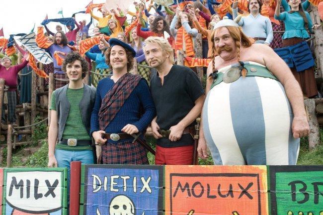 Los protagonistas de 'Astérix y Obélix: Al servicio de su majestad'