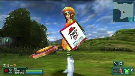 'Phantasy Star Portable 2' y el product placement de Pizza Hut