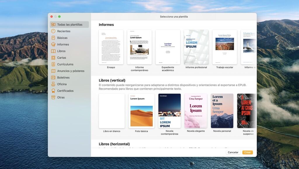 Cómo crear, utilizar y gestionar plantillas en Pages para Mac