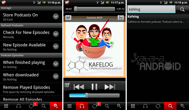 Pocket Casts para escuchar y ver podcasts