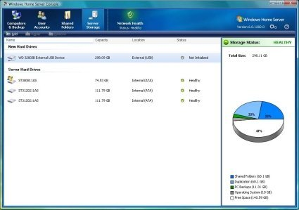 Más información sobre Windows Home Server