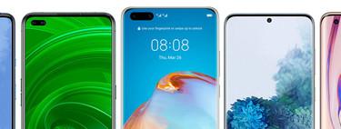 Huawei P40 y P40 Pro, comparativa: así quedan frente a Galaxy S20, Xiaomi Mi 10, Realme X50 Pro y resto de gama alta Android