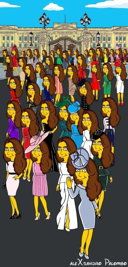 Kate Middleton se Simpsoniza