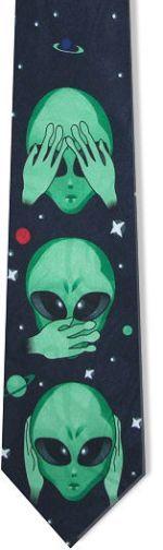 Corbata de los tres aliens