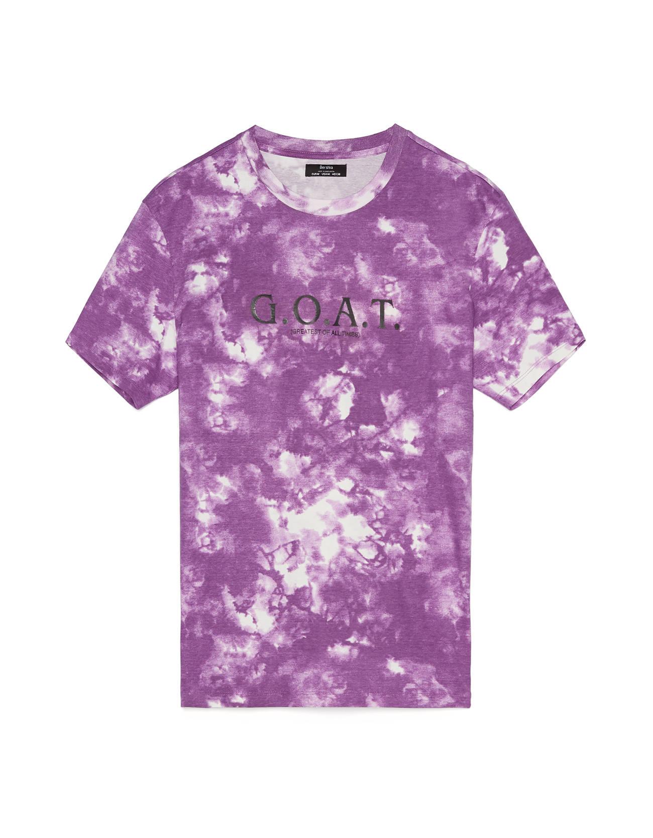 Camiseta tie dye de manga corta