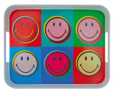 Vajillas decoradas con Smileys para nostálgicos de los años 70