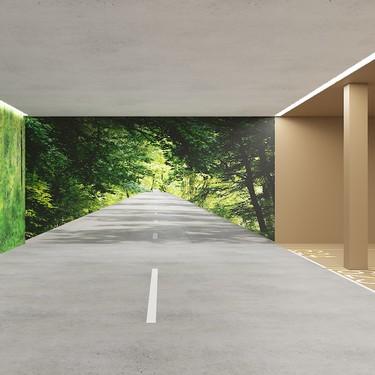 ¿Y si nos olvidamos del gris y decoramos los garajes con colores naturales y murales inspiradores?