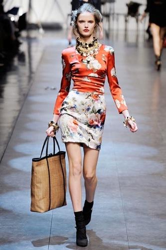 El estampado floral dominará la Primavera-Verano 2010: vestidos para tomar nota, Dolce Gabbana