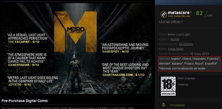 Petición para que Valve incluya información sobre subtítulos en los juegos de Steam