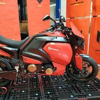 Soriano Giaguaro V1: ya hay fotos reales de la moto eléctrica italiana con 80 CV que llegará pronto a sus dueños