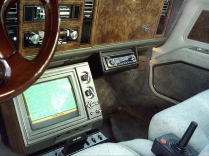 Buick Riviera con una vieja consola Atari incorporada