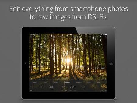 Adobe Photoshop Lightroom llega oficialmente al iPad