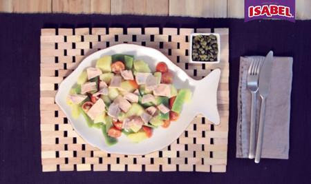 Ensalada de judías verdes con alcaparras y atún Isabel [videoreceta]