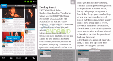 Issuu Mobile para leer revistas