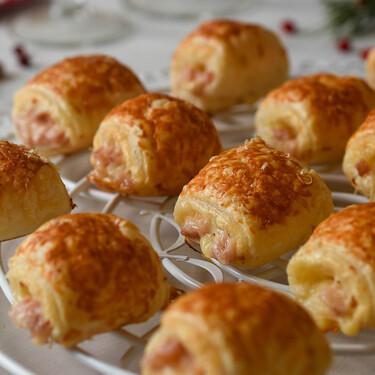 Mini napolitanas de jamón y queso, receta fácil y rápida para un aperitivo navideño