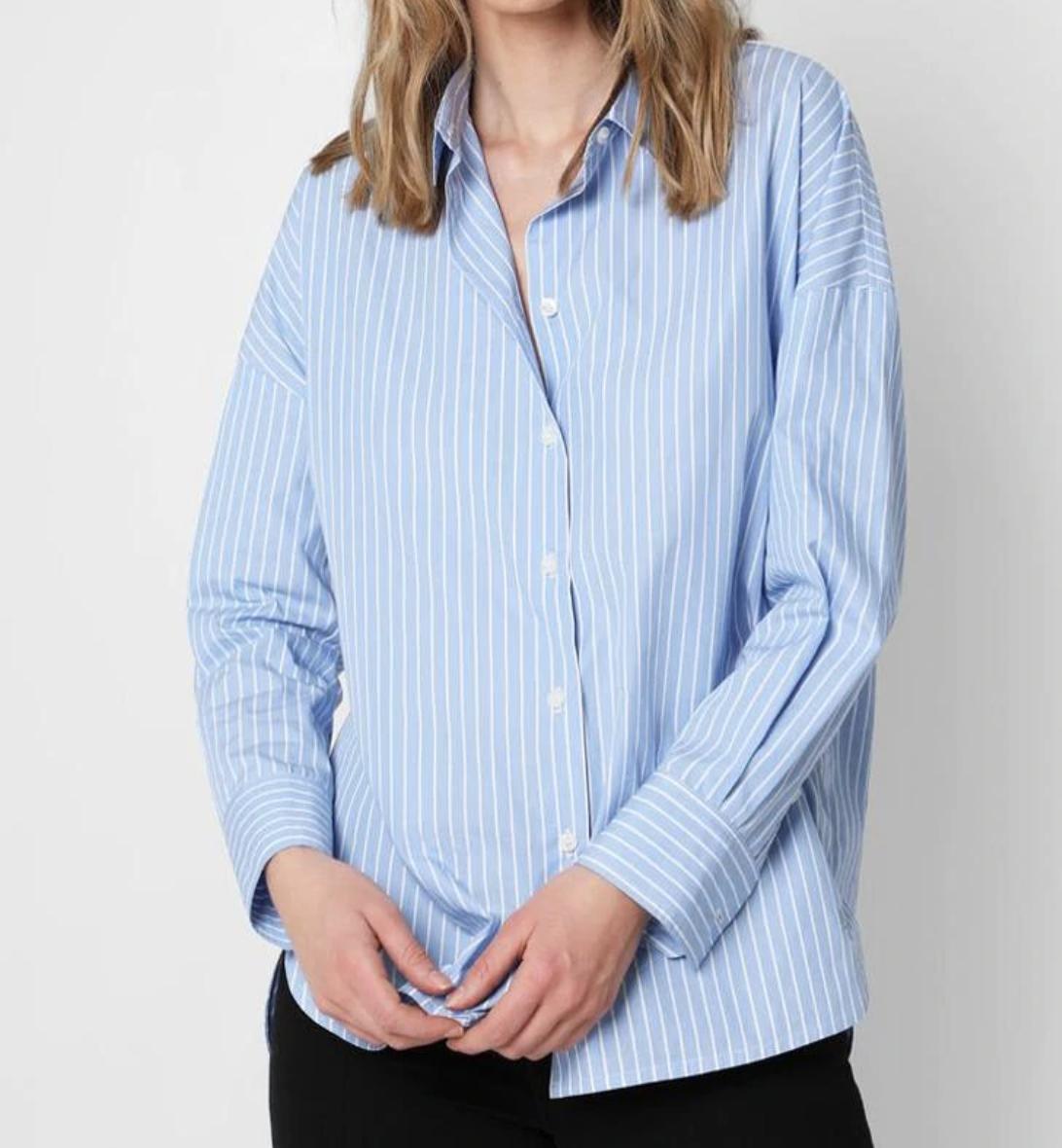 Camisa de mujer de manga larga a rayas