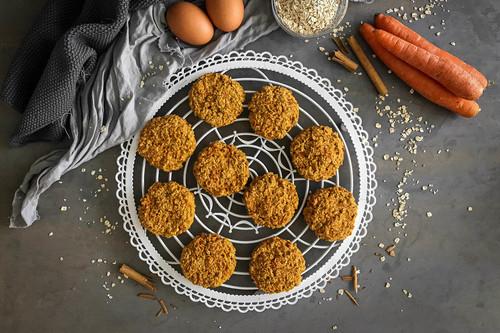Receta de galletas de avena y zanahoria, un snack saludable libre de remordimientos