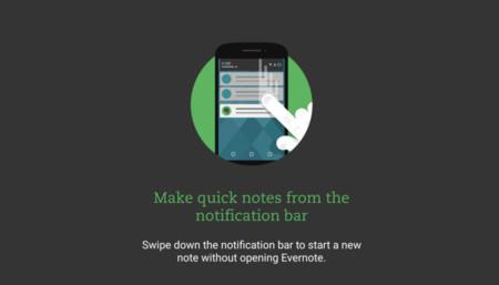 Evernote 7.5 beta ahora te permite crear notas rápidas desde la barra de notificaciones
