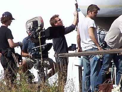 Colin Farrell y Ewan McGregor en el set del nuevo Woody Allen