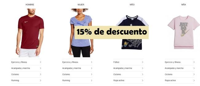 15% de descuento en la nueva colección de deportes en Amazon. Sólo hasta el 28 de abril