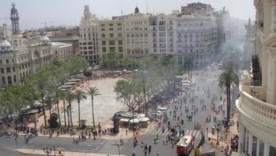 Una Mascletà en Valencia (España)