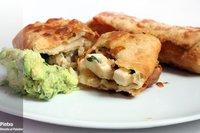 Receta de flautas de pollo con guacamole