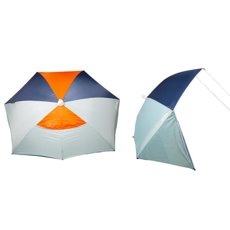 Refugio de playa para tres personas
