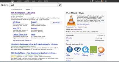 Bing ahora facilita las descargas de aplicaciones y las búsquedas de programación