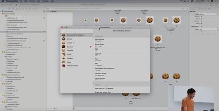 La app ChocolateChip convertida al Mac tal cual, sin ninguna transformación más allá. ¿Alguien más se ha fijado en el corazón en Marzipan? Los ingenieros de Apple nos mandan un mensaje subliminal.