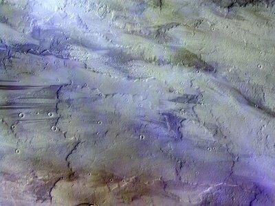 En esta imagen podemos ver nubes en Marte