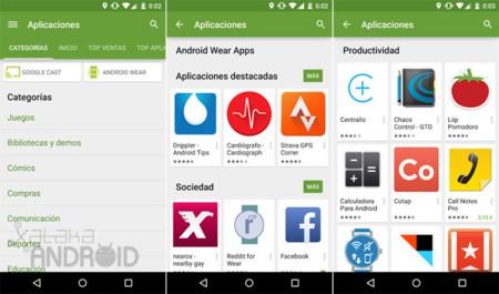 Google Play crea ocho nuevas colecciones de aplicaciones para Android Wear
