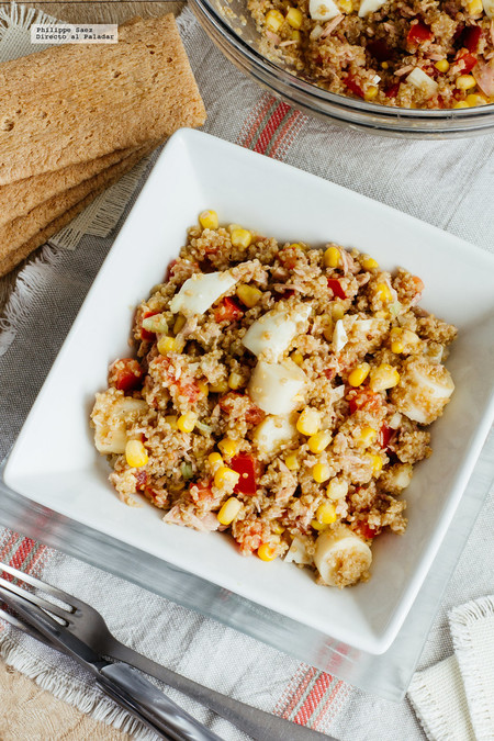 Ensalada quinoa y atún