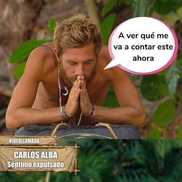 """El mensaje delator de Carlos Alba a Tom Brusse que Jordi González tuvo que cortar en seco en el directo de 'Supervivientes'': """"No hagas trampas"""""""