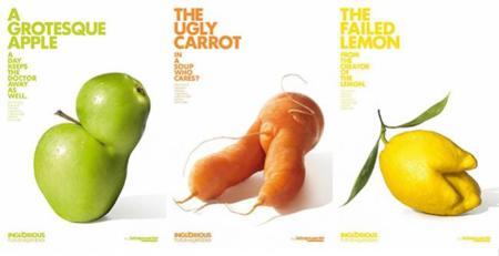 Di no a la discriminación de verduras y frutas feos