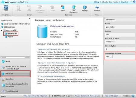 SQL Azure - Manager