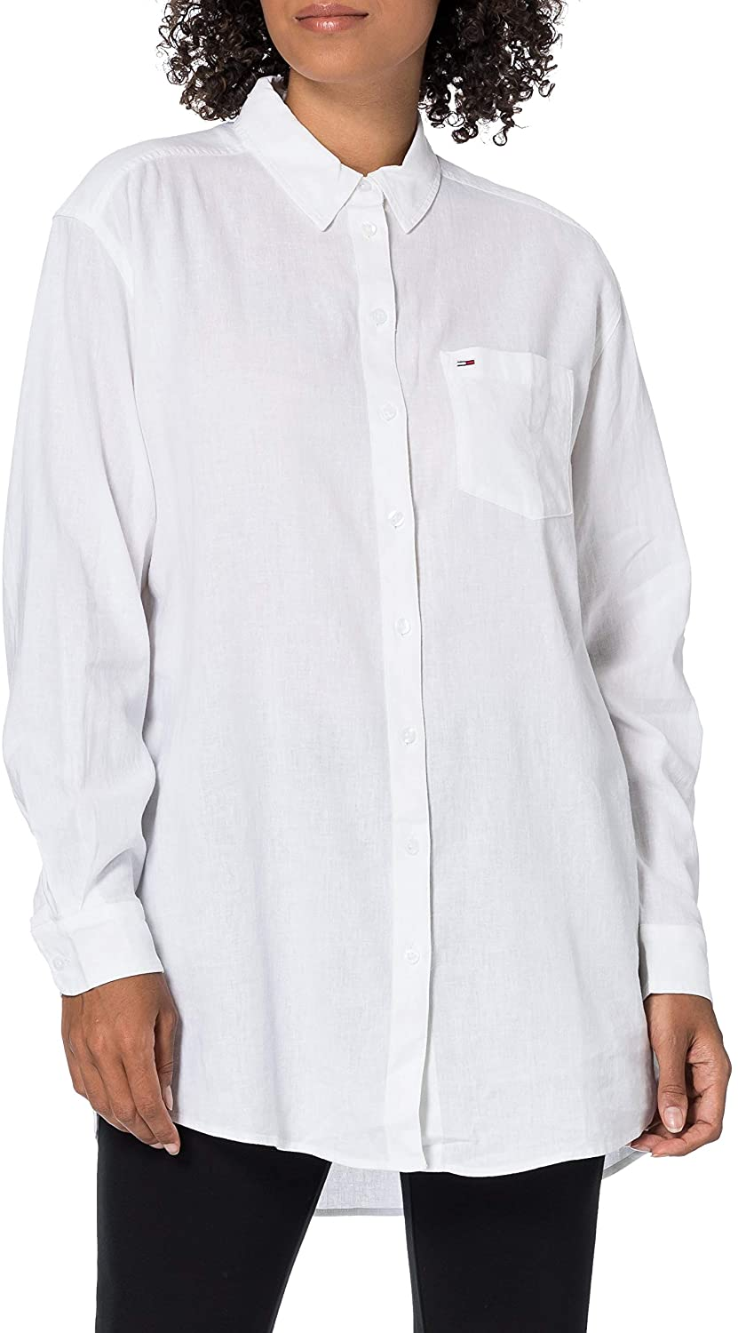 Tommy Jeans Tjw Relaxed Long Shirt Camisa para Mujer