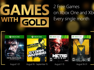 MGSV: Ground Zeroes, Metro: Last Light y How to Survive, estos son los Games With Gold de agosto