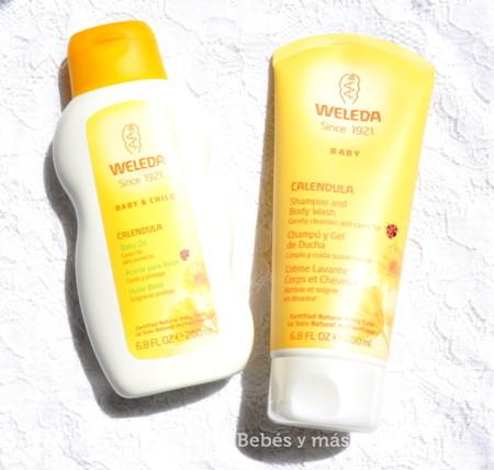 Cuidando la piel de mi bebé: probamos la gama de Caléndula de Weleda