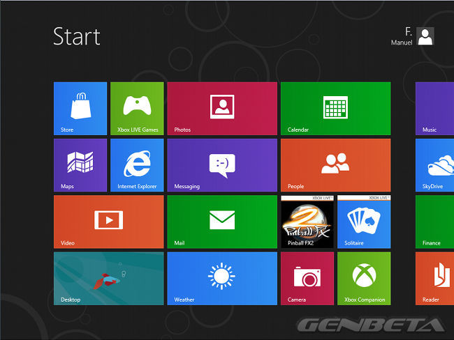 Start Screen de Windows 8