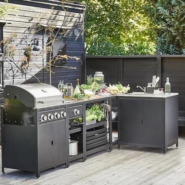 Muebles de Ikea de exterior con los que convertir tu barbacoa en una auténtica cocina de exterior