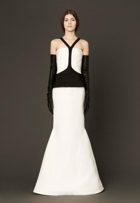 Vera Wang negro vestido