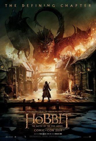 'El hobbit: La batalla de los cinco ejércitos', cartel